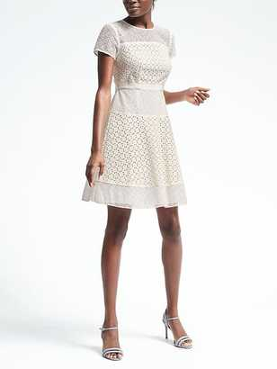 Geo Lace Dress $138 thestylecure.com