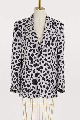 Koché Leopard blazer