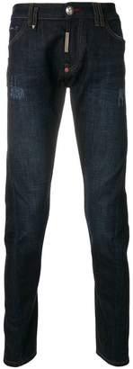 Philipp Plein distressed detail jeans