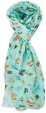 NEW Printed Village Womens Scarves Travel Trendy Scarf Size OneSize Travel