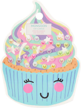 Monsoon Delish Sprinkles Stick on Earrings & Face Gems