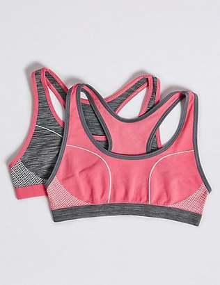 Marks and Spencer 2 Pack Sporty Racer Crop Tops (6-16 Years)