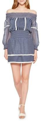 Parker Carah Stripe Off the Shoulder Dress