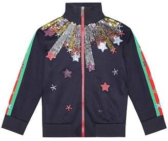 Gucci Kids Embellished cotton-blend jacket