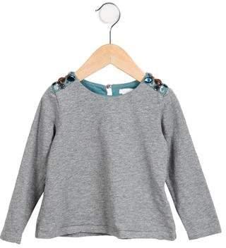 Chloé Girls' Embellished Long Sleeve Top