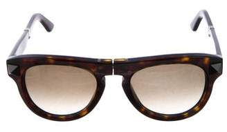 Valentino Gradient Folding Sunglasses