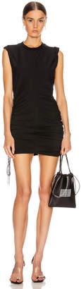 Alexander Wang High Twist Dress with Ties in Black | FWRD