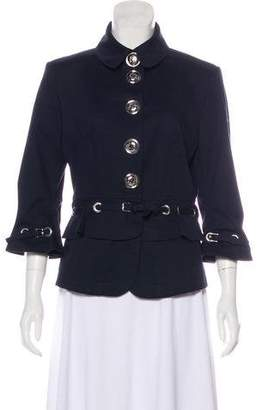Burberry Belted Button-Up Jacket