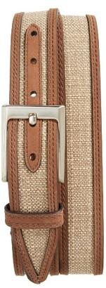 Men's Nordstrom Men's Shop Webster Leather & Linen Belt $69.50 thestylecure.com