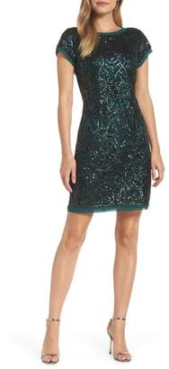 Vince Camuto Sequin Embellished Cocktail Sheath