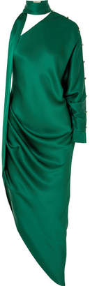 Ralph & Russo - One-shoulder Silk-satin Dress - Emerald