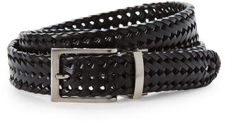 Tommy Bahama Black Braided Belt