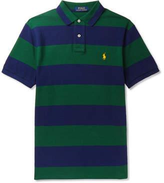 d0e879ca7148 Polo Ralph Lauren Slim-fit Striped Polo Shirts - ShopStyle UK