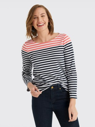 Draper James Stripe Ponte Long Sleeve Tee