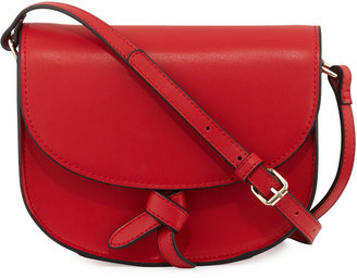 KC Jagger Adriana Leather Knotted Saddle Bag $100 thestylecure.com