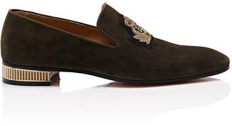Christian Louboutin Men's Captain Suede Venetian Loafers