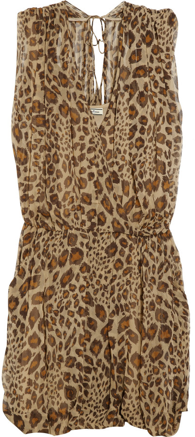 By Malene Birger Naima leopard-print silk-georgette dress
