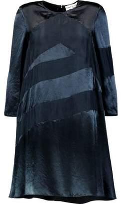 Sonia Rykiel Paneled Satin-Crepe Mini Dress
