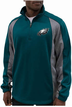 G-iii Sports Men Philadelphia Eagles Offsetting Penalty Quarter-Zip Pullover