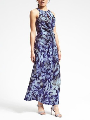 Piece & Co. Sun-Dyed Silk Twist-Front Dress $268 thestylecure.com