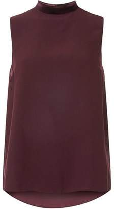 Dorothy Perkins Womens Purple Velvet Neck Top