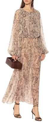 Rotate by Birger Christensen Python-printed maxi dress