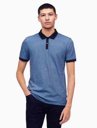 Calvin Klein slim fit feeder stripe polo shirt