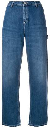 Carhartt Heritage logo patch straight jeans