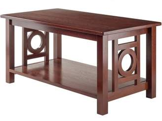Winsome Wood Ollie Coffee Table, Walnut Finish