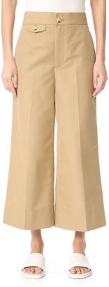 Helmut Lang Wide Leg Cropped Pants $380 thestylecure.com