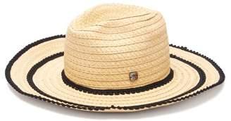 Filù Hats Filu Hats - Batu Tara Buio Medium Brim Straw Hat - Womens - Black