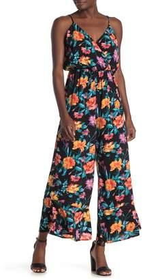 Lush Flare Leg Floral Jumpsuit