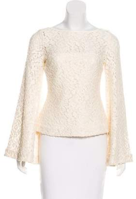 Elizabeth and James Bell-Sleeve Lace Top