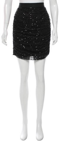 Dolce & Gabbana Dolce & Gabbana Sequin Ruched Mini Skirt w/ Tags