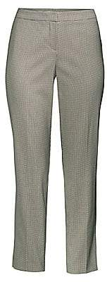 BOSS Women's Tiluna6 Houndstooth Wool-Blend Slim-Fit Ankle Trousers - Size 0