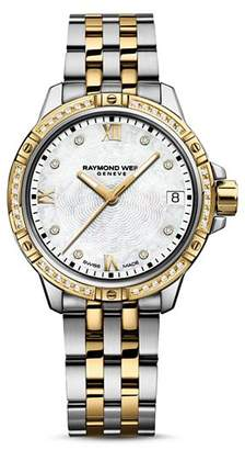 Raymond Weil Tango Two Tone Diamond Bezel Watch, 30mm
