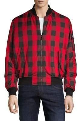Versace O-Clan Check Bomber Jacket
