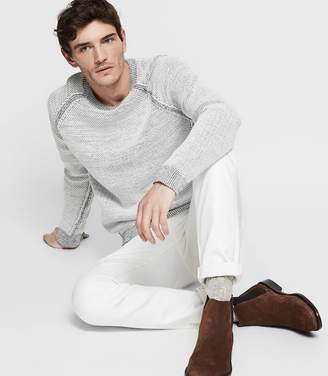 Reiss ORDER BY MIDNIGHT DEC 15TH FOR CHRISTMAS DELIVERY CHARLSTON CHUNKY KNIT JUMPER White/Navy