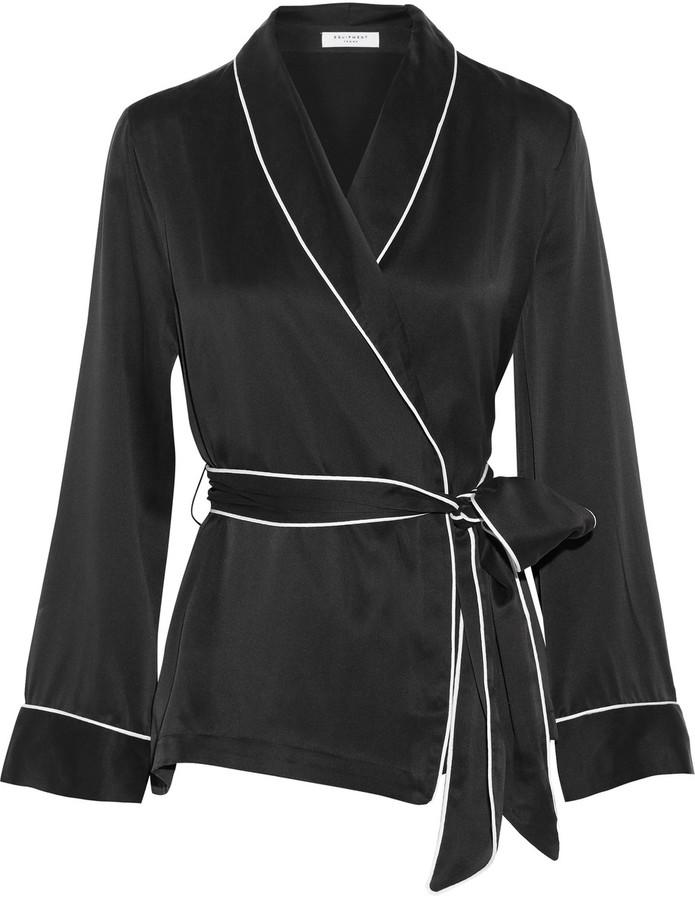 EquipmentEquipment Odette washed-silk wrap shirt