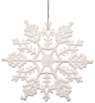 Asstd National Brand Club Pack Of 24 3.75 Shimmering Winter White Glitter Snowflake Ornaments