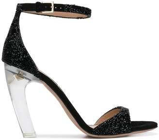 Valentino curved heel sandals