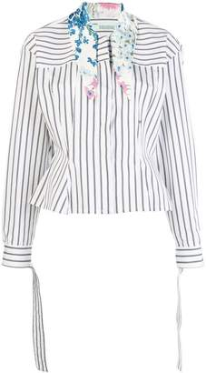 Off-White scarf collar striped shirt
