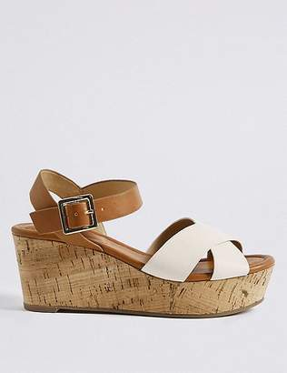 Marks and Spencer Wedge Heel Crossover Sandals