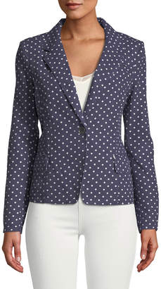 Raison D'etre Polka-Dot Linen/Cotton Blazer Jacket