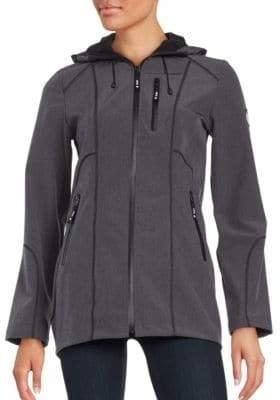 Halifax Traders Melange Softshell Hooded Jacket