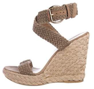 Stuart Weitzman Espadrille Wedge Sandals