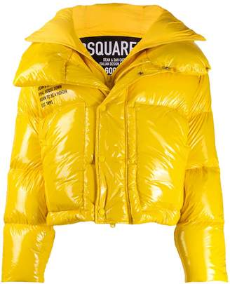 DSQUARED2 front slogan detail padded jacket