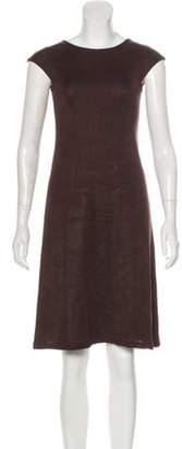 Calvin Klein Collection Sleeveless Knee-Length Dress Brown Sleeveless Knee-Length Dress