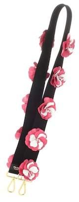 Prada Leather-embellished canvas shoulder strap