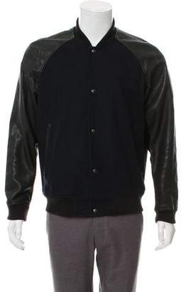 Vince Wool & Leather Bomber Jacket
